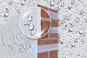 <p>The silicone system is highly water repellent, with extremely good water-vapor permeability – and keeps facades dry.</p>
