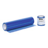 Self-adhesive protective foil, blue