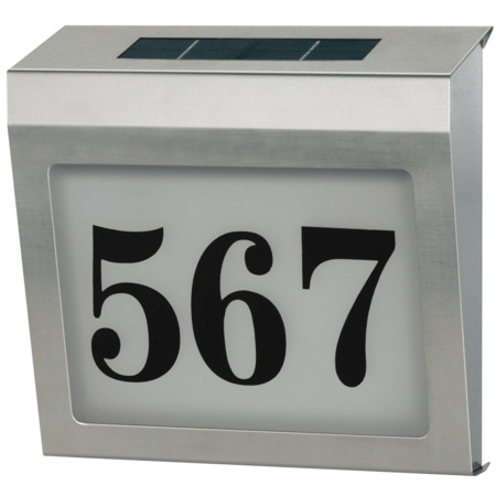 Illuminated Solar House Number Solar Power SH 4000 IP44